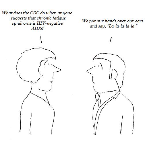 cfs, chronic fatigue syndrome, aids, cdc, HIV-negative aids, cartoon
