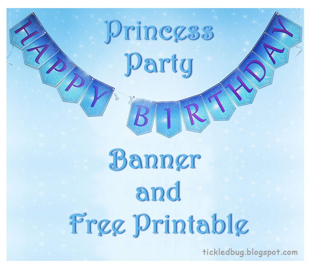 Tickled By The Creative Bug: Princess Party Happy Birthday