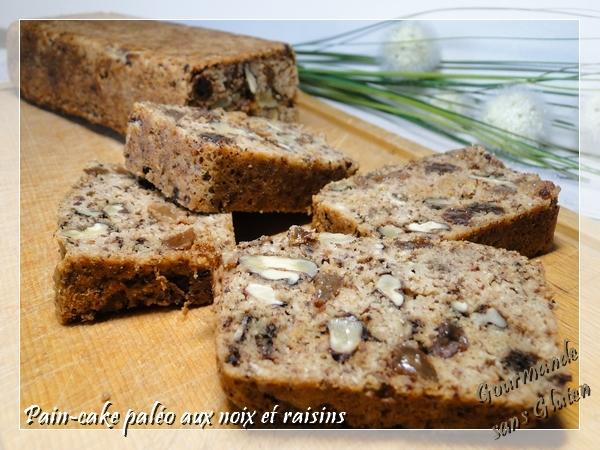 gourmande sans gluten pain cake aux noix raisins et. Black Bedroom Furniture Sets. Home Design Ideas