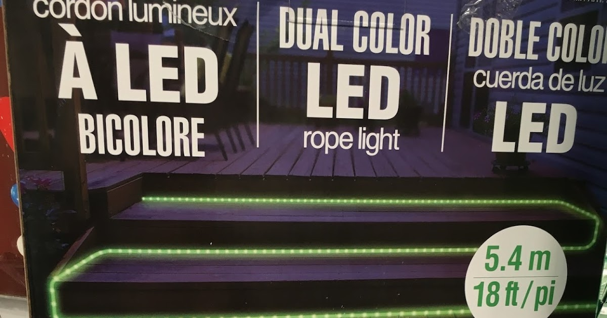 Dual Color Led Rope Light 18 Ft Costco Weekender