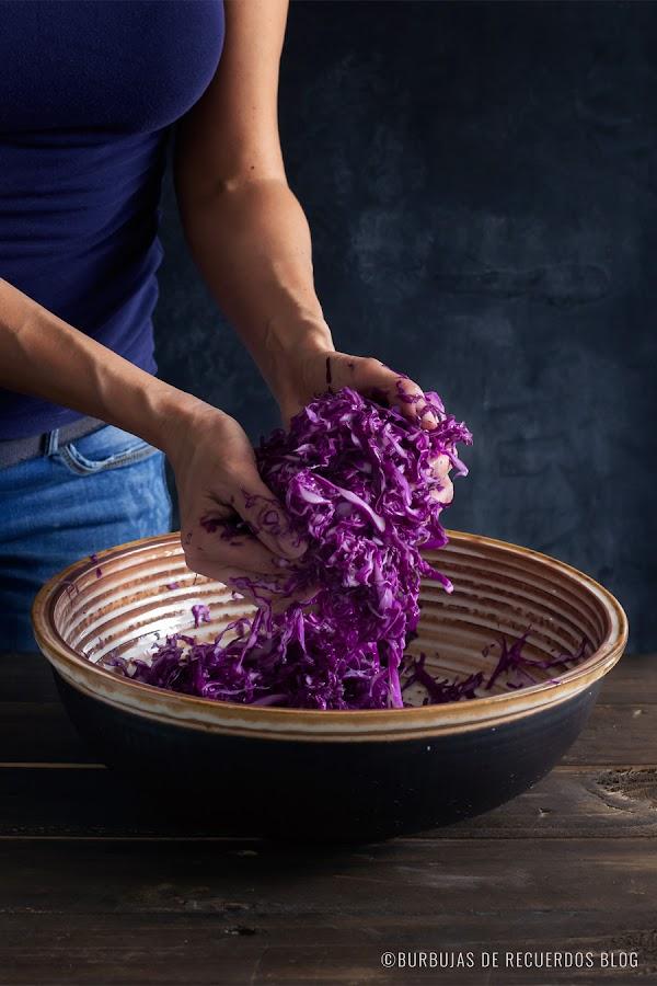 Cómo hacer chucrut natural o repollo fermentado