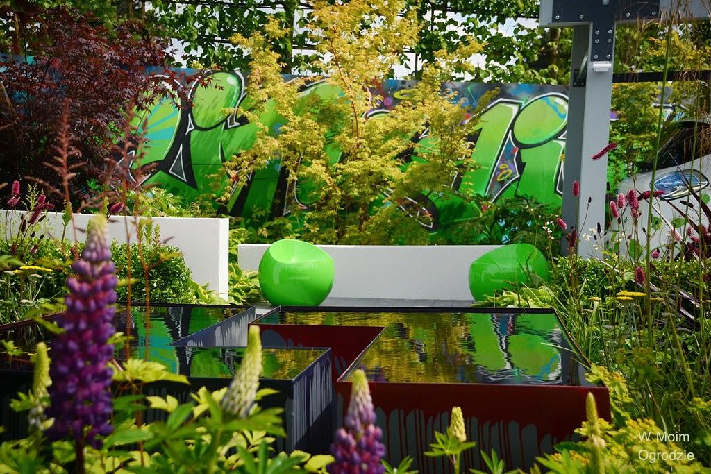 projekt nowoczesnego miejskiego ogrodu
