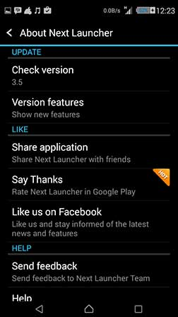 next launcher 3d shell v3.5 full apk