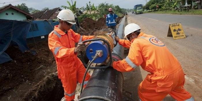 FP2MR Tuding Penyambungan Pipa PT PGN Belum Dilakukan Pipe Line X-Tray