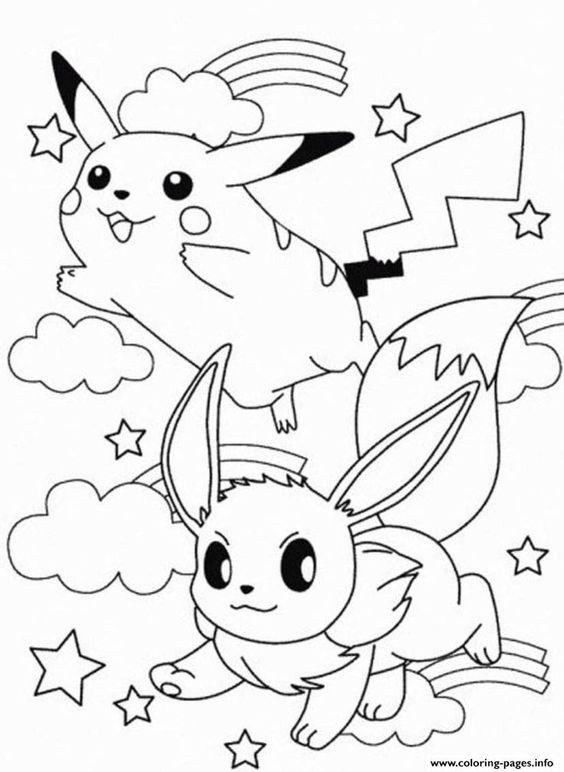 Tranh tô màu Pokemon 03