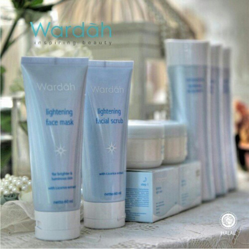 Paket Wardah Lightening Series Jual Harga Original Whatsapp Face Mask Isi Creamy Foam Scrub Milk Cleanser Toner