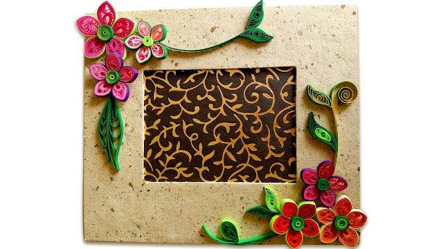 quilling photo frame ~ projects art craft ideas