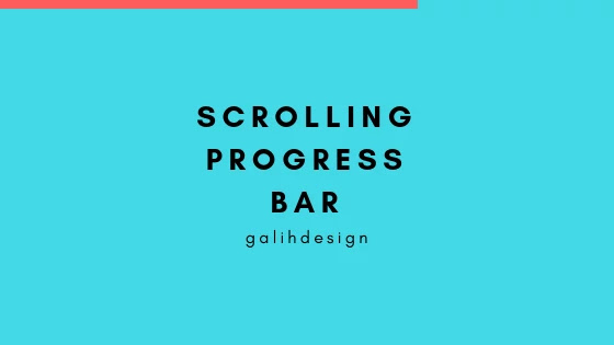 Scrolling Progress Bar