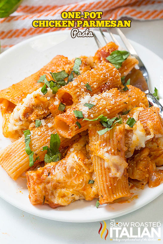 titled image (and shown): Chicken Parmesan Pasta