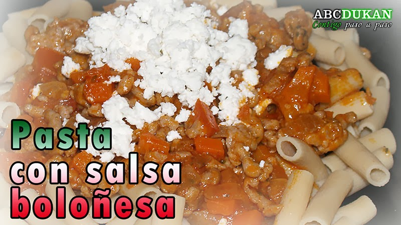 salsa bolognesa con pasta ciao carb baja en hidratos