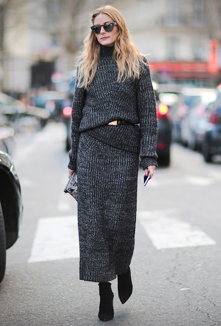 knitted outfit, knit skirt, olivia palermo, fall 2016, street style, spring 2016, trends, fashion week, NYFW, PFW, LFW, new york fashion week, paris fashion week, london fashion week