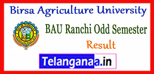BAU Ranchi Birsa Agriculture University UG PG Diploma 1st 3rd 5th 7th Semester Results 2018