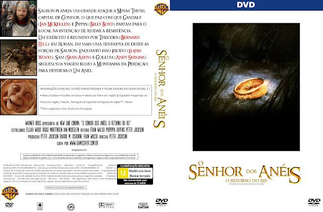 Capa DVD O Senhor Dos Anéis O Retorno Do Rei [Coleção]