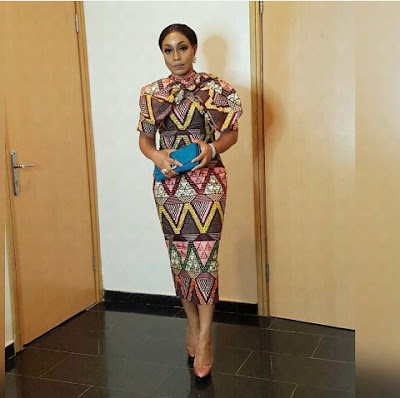 Actress Rita dominic in The Audrey Bow Beaded Dress