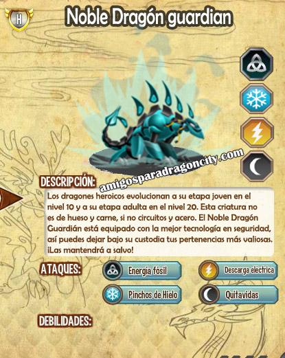 imagen de las caracteristicas del noble dragon guardian