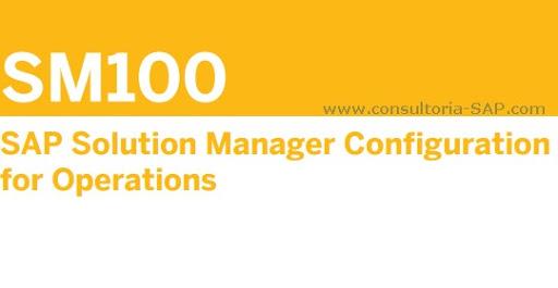 SAP SM100 - Consultoria-SAP