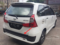 Harga Dan Fisik Garnish Bawah Pintu Bagasi Daihatsu Great Xenia Sporty