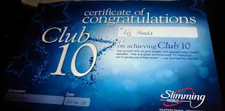Club 10 certificate