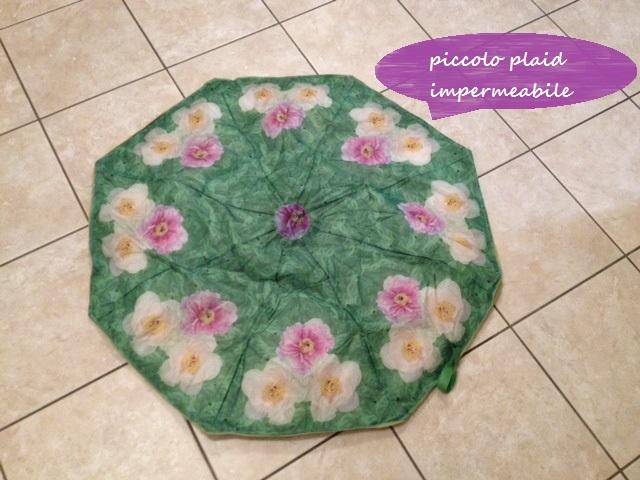 petit parapluie recyclé en petite couverture pour picnic