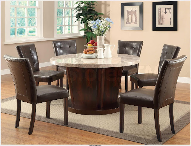 Popular Marble Round Dining Table Picture