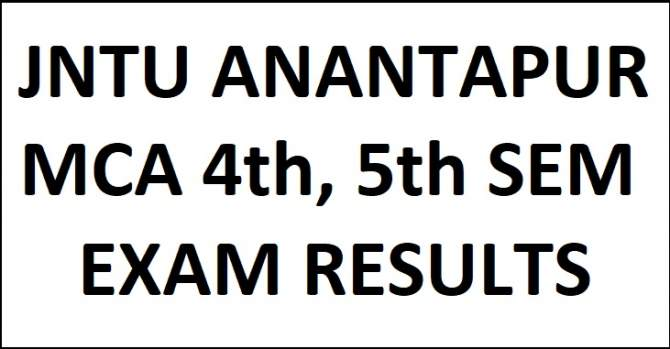 JNTUA MCA 4th/5th Sem Regular/Supply Exam Results May 2018 (R16,R13,R10) JNTUA MCA 4th/5th Sem Regular Supply Exam Results