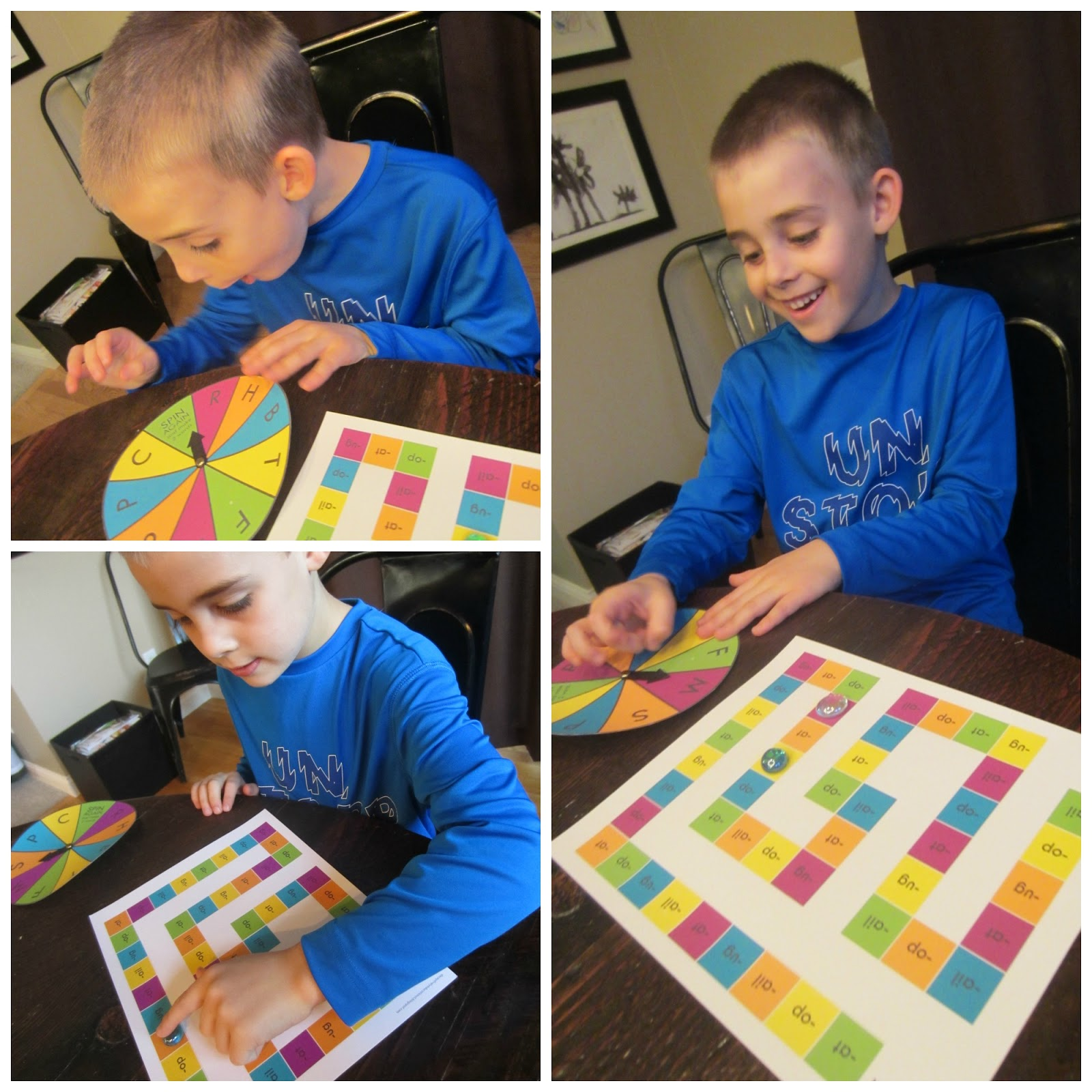 Word Family Board Game Free Printable At Ug Op Amp Ail Practice