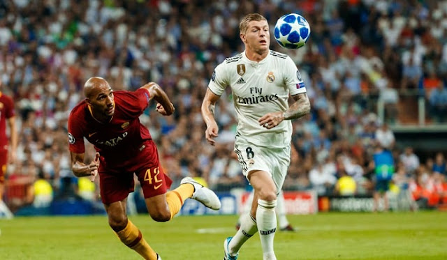 Hasil Liga Champions: AS Roma vs Real Madrid 0-2