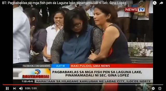 Large Fish Pens On Laguna de Bay Ordered To Be Demolished By Gina Lopez