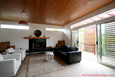 Living room with two ways sliding doors