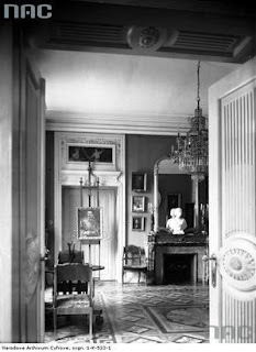 Wnętrze pałacu Pusłowskich - 1936