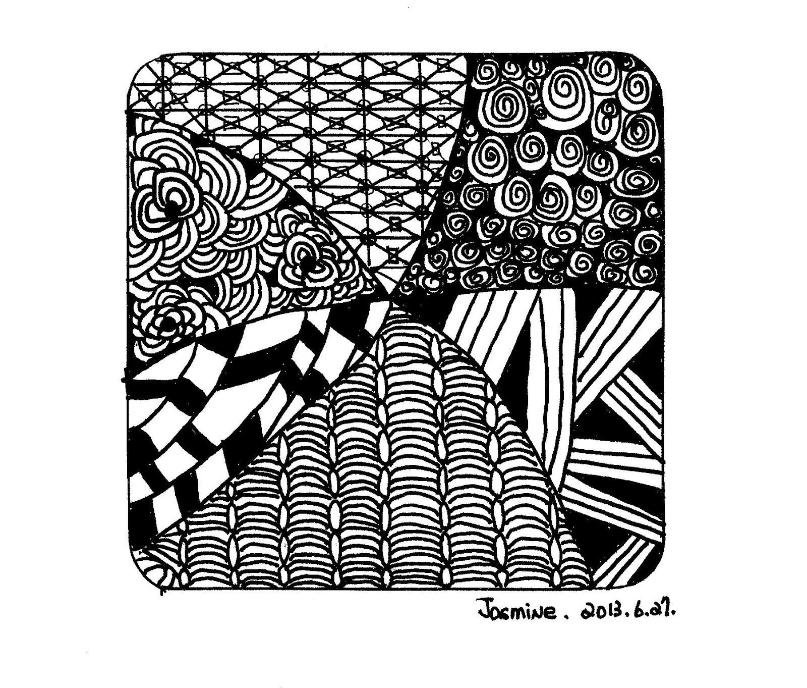 Jasmine's Book: Zentangle 禪繞畫初體驗