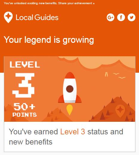 Google Local Guides Level 3