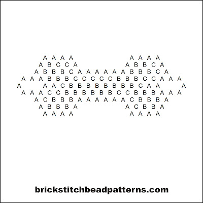 Click for a larger image of the Creepy Skeleton Bone Halloween bead pattern word chart.