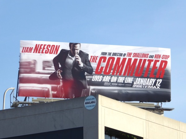 commuter movie billboard