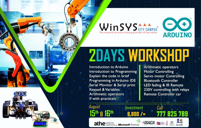 http://www.winsys.lk/index.php?module=Arduino%202%20Days%20Workshop