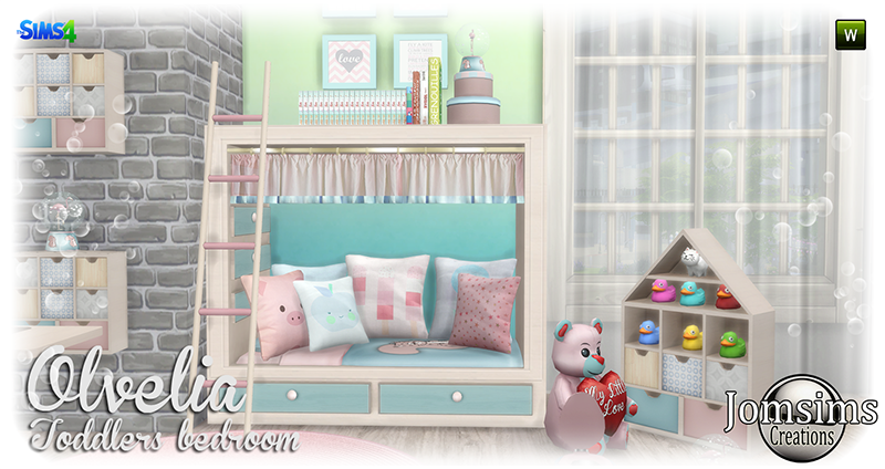 Jomsimscreations blog olvelia toddlers bedroom click for Sims 4 meuble a telecharger