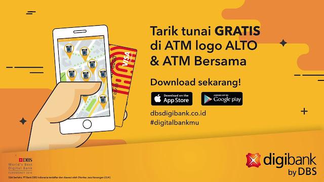 Tarik tunai dengan Digibank by DBS tanpa kartu ATM