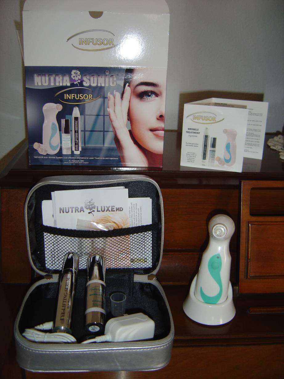 NUTRA SONIC Wrinkle Spot Treatment System NutraLuxe MD