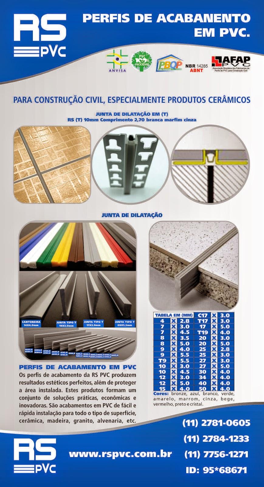 RS PVC® CANTONEIRAS PERFIL PLÁSTICAS PVC RS PVC® JUNTA ...