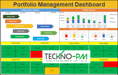 Portfolio Management Dashboard, Project Portfolio Dashboard