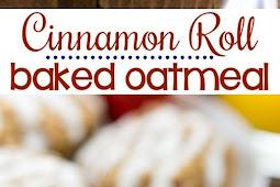 Cinnamon Roll Baked Oatmeal Recipe