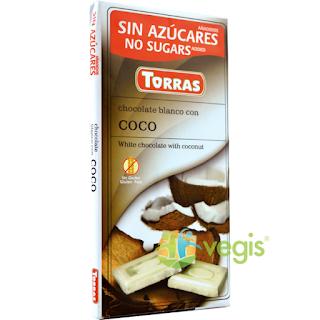 Ciocolata alba cu nuca de cocos GF cumpara aici