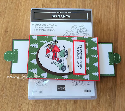 So Santa, double slider Card, Christmas Cards, Heart of Christmas, Art with Heart, Rhapsody in Craft
