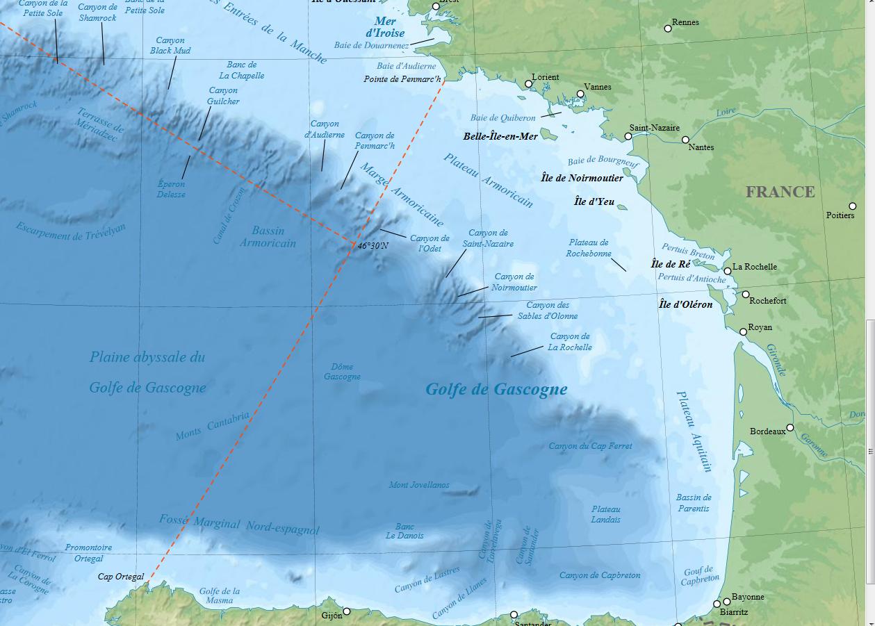 Golfo De Vizcaya Mapa.Arantxa Fish Golfo De Vizcaya Versus Mar Cantabrico Y Las