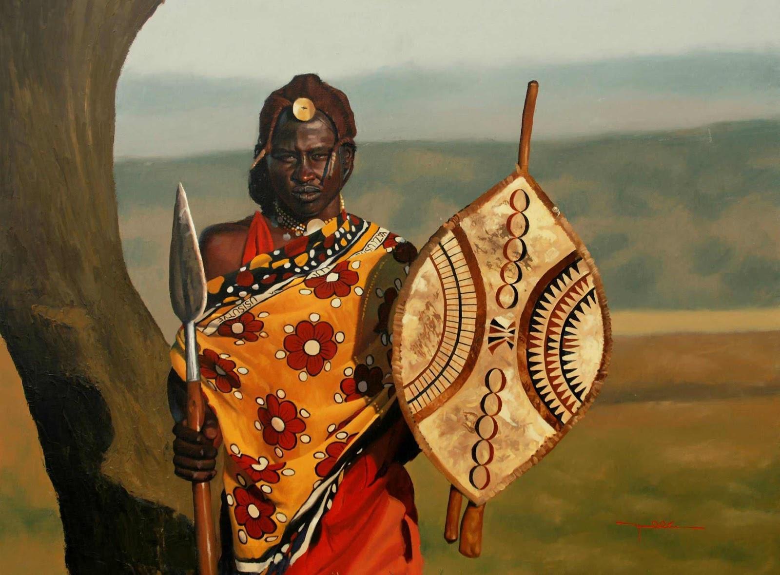 Smock Room: The Symolic Colors of the Maasai     3rd graders