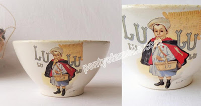 Hard To Find French Cafe au Lait Bowl Petit Beurre de Lu Advertising LU LU Cookies Petit Ecolier Bowl