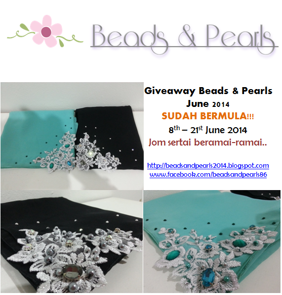 Giveaway Beads & Pearls  June 2014