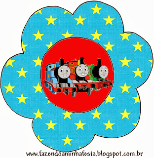 Thomas the Train  Flower Invitation.