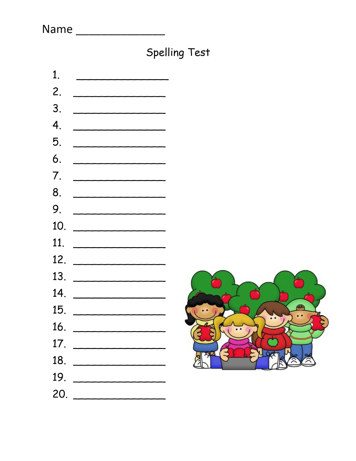 Second grade is groovy spelling sale for Free printable spelling test template