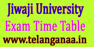 Jiwaji University M.Phil (History) 2nd Sem Sept-2016 Exam Time Table